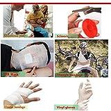 TRSCIND Erste-Hilfe-Set, Survival Kit mit Taschenlampe Feuerstahl und Rettungsdecke 130-teilig - 3