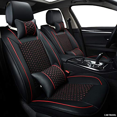 Rzj-njw Cubierta de Asiento de Coche para Volkswagen Polo VW Polo 9N 6R VW Passat Passat B5 B6 B7 B8 Passat VW Golf 5 6 7 Campo de Asiento de Coche del Protector,Negro