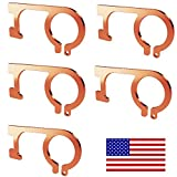 Aviano Copper Protector Door Opener Tool & Button Pusher –(5 PACK) 99.9% Copper Hands Free Germ Keychain Utility Hook Tool Key– No Touch Tool for Infected Surfaces, Touchscreens, Handles, Buttons