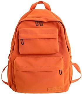 DCIMOR New Waterproof Nylon Backpack for Women Multi Pocket Travel Backpacks Female School Bag for Teenage Girls Book Mochilas,Orange,30cm13cm40cm