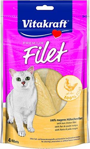 Vitakraft Gatto Snack premium Filet, 70g, Confezione da 7