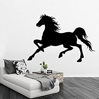 real galloping horse removable wall stickers home decor living room diy art mural decals