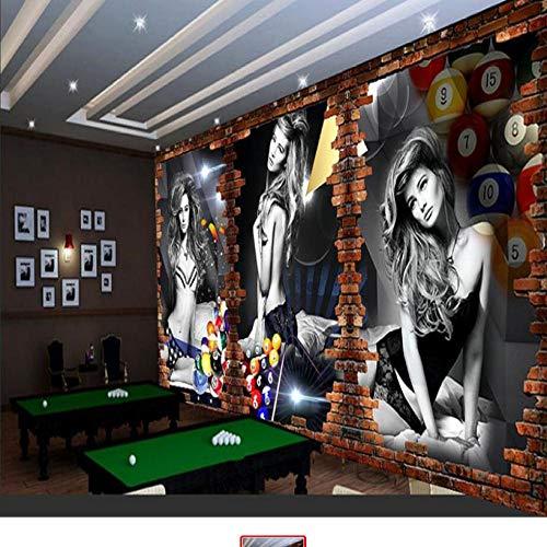 Relief 3D Wandbild Tapete Billard Bild Wand Billard Hintergrund Wand Billard Zimmer Tischtennis Tapete Dekoration-1