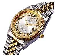 ラグジュアリードレスガールズラインストーンステンレススチール防水クオーツカレンダーレディース光カジュアル腕時計 シルバーホワイト