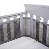 BreathableBaby Deluxe Breathable Mesh Crib Liner, Embroidered...