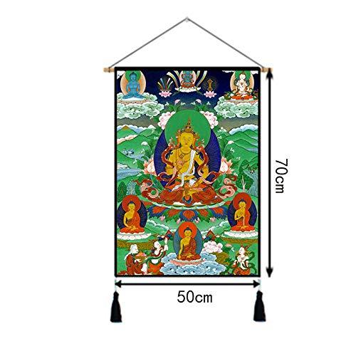 Yjll Boeddha Edge Thangka schilderij achtergrond kleur muurverf woonkamer slaapkamer muur hal muur 3 stuks levering