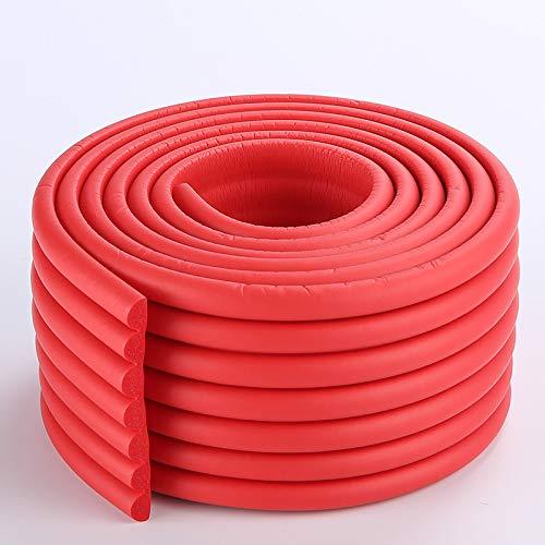 KUMADAI Protector Bordes Bebe, Forma W Material NBR Protector Enchufes para Bebes Espuma Protectora Impermeable a Prueba de Manchas 2m/78 Pulgadas,Rojo