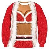 Goodstoworld Hässlicher Weihnachtspullover 3D Junge Crazy Pullover Weihnachten Sweatshirt Ugly Christmas Sweater Teenager XL