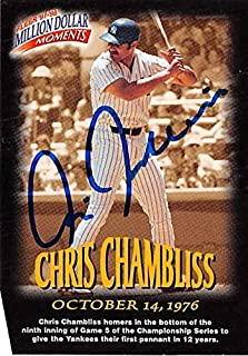 Chris Chambliss autographed Baseball Card (New York Yankees) 1998 Fleer Million Dollar Moments #37 - Baseball Slabbed Autographed Cards