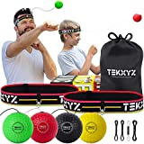 TEKXYZ Boxing Reflex Ball Family Pack | 2 Adjustable Headbands + 2 Novice Reflex Balls + 1 Veteran Reflex Ball + 1 Boxer Reflex Ball and More