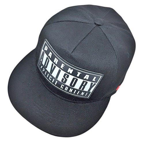 MissFox Sombrero Plano De Béisbol Accesorios para Parejas Hip Hop Snapback Negro Blanco