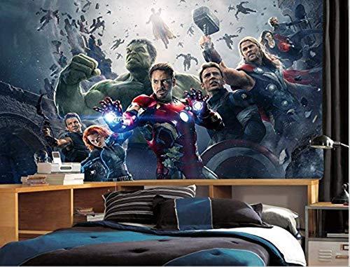 Foto-tapete Wand Bildkunst Avengers Marvel Hulk Thor Wandbild Hintergrund Bildnerwohnen Schlafzimmer Sofa Hintergrund Wandbilder Wallpaper Breite 250cm * Höhe160cm pro