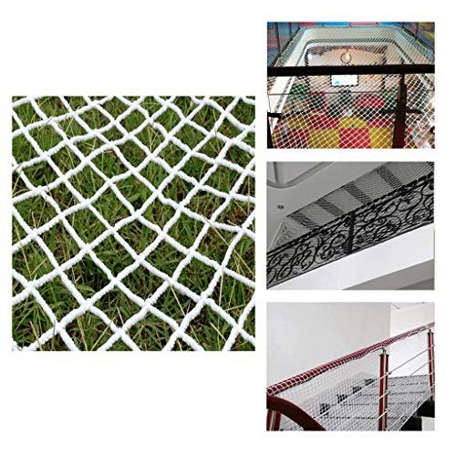 Duradera Tama/ño:200 x 77cm para Fijar en las Barandillas de Escaleras y Balcones Impermeable BTSKY Red de Seguridad Malla de Seguiridad Blanca para Protecci/ón a Ni/ños y Beb/és
