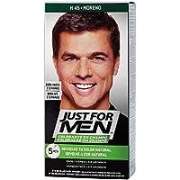 Just For Men, Tinte Colorante en champu para el cabello del hombre. Elimina las canas y rejuvenece el cabello en 5  minutos. Castaño Moreno, 30 ml