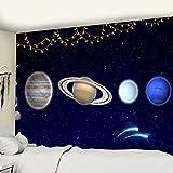 KHKJ Cósmico Cielo Estrellado decoración psicodélico Tapiz Colgante de Pared Indio Mandala Tapiz Hippie Tapiz de Pared A4 95x73cm