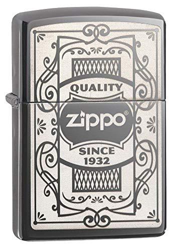 Zippo Hielo Calidad Resistente al Viento Ligero Unisex, Color Negro, Talla única
