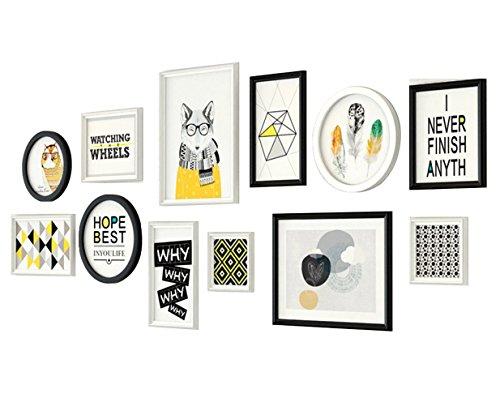 GWF Marco de Fotos estéreo de Madera Maciza, Restaurante, Foto, Pared, combinación Creativa, Marco de Fotos, Sala, sofá, Fondo, Pared, álbum, Pared, Pared, 200 * 83 cm.