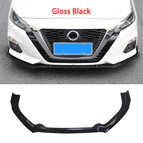 Front Bumper Lip YOUNGERCAR Fit for 2019-2020 Nissan Altima Gloss Black Style ABS Plastic front Bumper Spoiler Splitter Wing