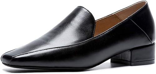 VIVIOO Chaussures en Cuir véritable Chaussures de Travail Classiques Chaussures de Travail Chaussures de Printemps et d'été Confortables