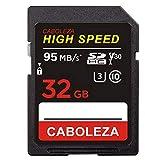 CABOLEZA SDHCカード32GB デジタルカメラ用のカードClass 10 HIGH SPEED UHS-I 超高速UHS-1 U3 対応 速度95MB/s耐温度、防水、耐磁、耐X線、静電耐性 (国内正規品)