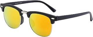 OWL Pouch Retro Rewind Juniors Half Frame Square Colored Mirror Sunglasses