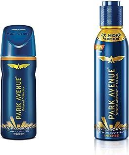 Park Avenue Good Morning Body Deodorant For Men, 100g & Park Avenue Good Morning Perfume Intense Body Spray, 150ml