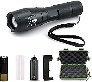 Super Bright 1200 Lumen Cree Xm-L T6 Led Adjustable Zoomable Tactical flashlight for Outdoor Sports,with 18650 Battery and AC Charger