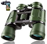 8x40 Hunting Binoculars for Adults with Smartphone Adapter - HD Binoculars for Bird Watching Hunting Hiking Sightseeing Golf Travel Concert Game with BAK4 Prism FMC Lens Black, Army Green
