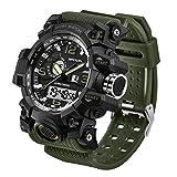 CHURACY ミリタリー ウォッチ 時計 サバイバルゲーム 防水 デジタル アナログ 腕時計