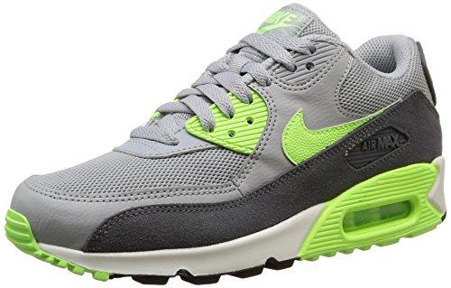 Nike Damen WMNS Air Max 90 Essential, Grau Neon Grün, 36.5 EU