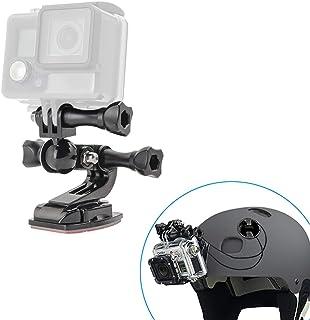 Gebogene Oberfläche mit Schwenklager Motorradhelm Halterung für GoPro Max, GoPro Hero 9/8/7/6/5/4/3+/3/2/1 Session und Mini Kamera