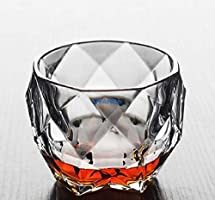 Syanka Old Fashioned Glass Whiskey Glasses Set of 4, Clear, 350 ml, Whisky Glass Bowl