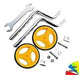 Stabilizzatori per Bicicletta, Ruote per Bici universali per Bambini, Rotelle Regolabili per Bici da, Stabilizzatori per Bici, Sicurezza Rotelle per 12 – 20 Pollici Bicicletta per Bambini (yellow)