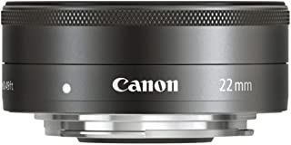 Canon EF-M 22 mm f/2 STM Lens, Black