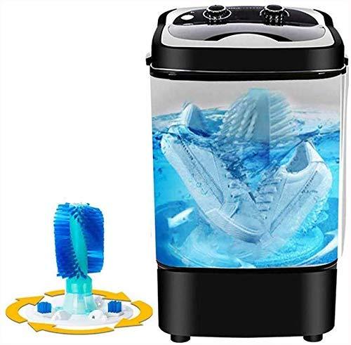 ZHOUMEI Duurzaam mini wassen schoenen machine grote capaciteitsultrasone efficiënte reiniging en bacteriostatische eenvoudige bediening Low Noise automatische wasmachine (kleur: zwart)