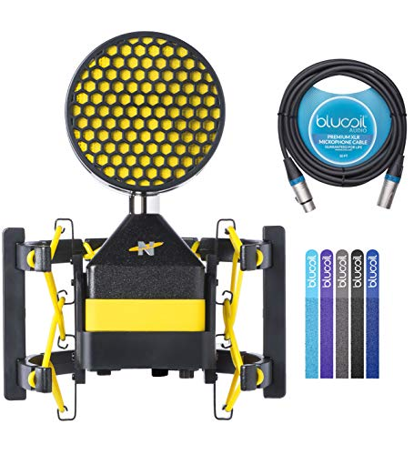 Neat Worker Bee Cardioid Condenser Microphone for Vocals, Electric and Acoustic Guitars, Percussion, Woodwind and String Instruments Bundle with Blucoil 10-FT Balanced XLR Cable, and 5X Cable Ties