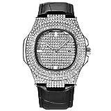 Orologio da Uomo Ghiacciato con Diamanti