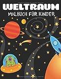 Weltraum-Malbuch für Kinder: Fantastische Weltraumfärbung mit Planeten