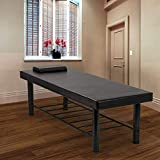 """Massage Table Heavy Duty Stationary Massage Bed 75'' Long 29.5"""" Wide Physical Therapy Bed with Memory Foam Layer, Salon Bed Beauty Spa Bed Tattoo Bed"""