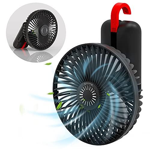 携帯扇風機 KOXXBASS ハンディファン 卓上扇風機 手持ち扇風機 せんぷうき 扇風機 小型 静音 LEDランプ照明機能 防虫剤入れ usb 充電式 オフィス 熱中症対策 3段階風量調整 5500mAh ポータブルファン 省エネ ブラック黒