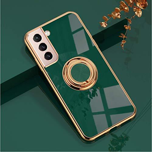 CYXYX, soporte de anillo, estuche magnético para teléfono para automóvil, cubierta protectora de marco de galvanoplastia, soporte de anillo magnético de 360 °, para iphone 12pro máx