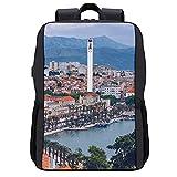 LUDOAN Sac à dos de voyage,Split,Croatie Région de Dalmatie Site du patrimoine mondial de l'UNESCO,sac d'ordinateur mince et durable antivol d'affaires avec port de charge USB