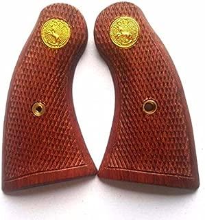 DOXICON&NOMIX Hardwood COLT Handcraft Handmade Grips Revolvers Checkered