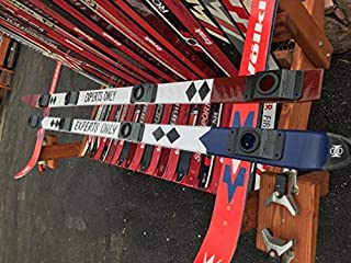 Experts ONLY Hand Painted Shot Ski (Burgundy) w/Universal Shot Glass Mounting System