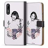 DeinDesign Étui Compatible avec Huawei P Smart Z Étui Folio Étui magnétique Violetta Disney...