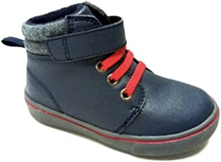 Garanimals, Faded Glory Toddler Navy/Red Velcro Boots, Assorted Sizes