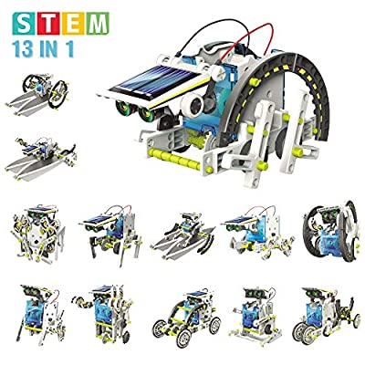 Mochoog STEM Toys for Boys - Solar Robot Kit 13 in 1, Educational Science Experiment Building Kits, Solar Powered Engineering RoboticToys, Gifts for 8 9 10-12 Years Old Boys & Girls