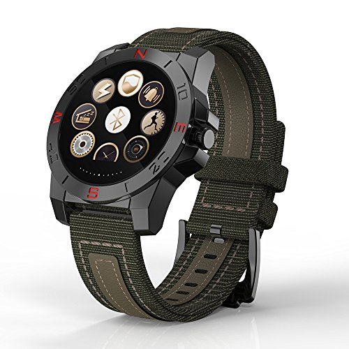 PeiteMadun Pulsmesser Smartwatch für Mädchen, Bluetooth Smartwatch Excerise Tracker/Call Erinnerung/mit SIM Card Slot [Grün]
