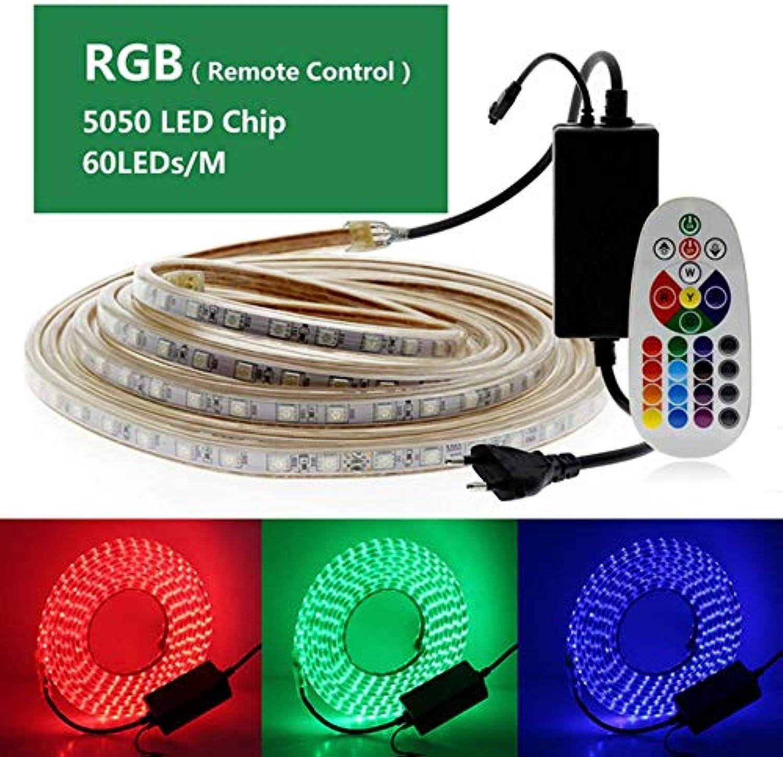 220V LED Strip RGB Warm Weiß + Blau Warm Weiß Weiß 60LED M Waterproof AC220V Flexible LED Light Strip.-RGB,15m