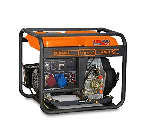 MEDIA WAVE store Generatore di Corrente 60213 Vinco Diesel 5,5 KW monofase-trifase Full Power